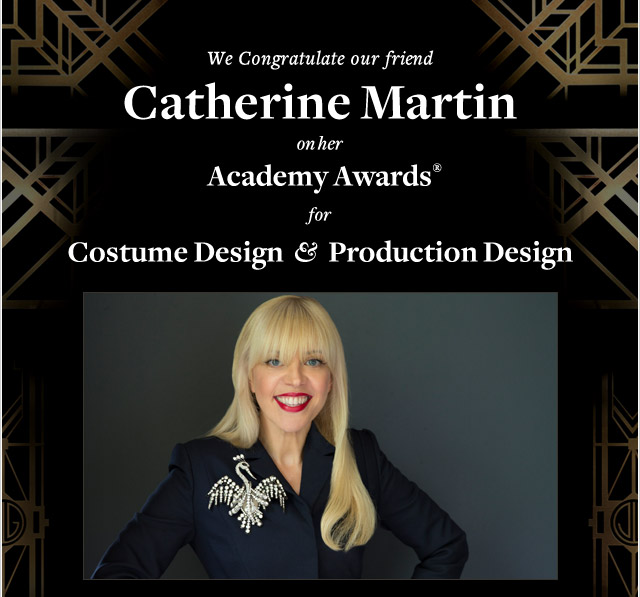 WE CONGRATULATE OUR FRIEND CATHERINE MARTIN